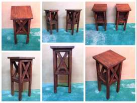 Night stand Cottage series 300 with crosses - Stained