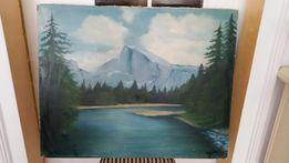 Obraz malowany na płótnie 90x80