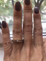 Кольцо с бриллиантом золото 585,размер 16,5
