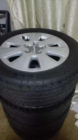 Audi rims with tyres, 16 inch, quick sale