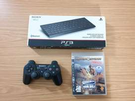 PS3 Controller + BT Keyboard + Game Bundle