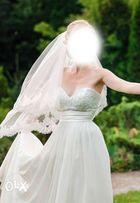 Свадебное платье молочного цвета выпускное платье весільна сукня