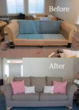 I do recovering and reupholstering