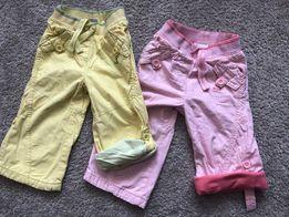 Spodnie dla dziewczynki (3 szt), rozmiar 9-12 m-cy, firmy NEXT i Pepco
