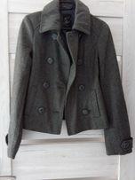 Płaszcz, kurtka, krótka szara S