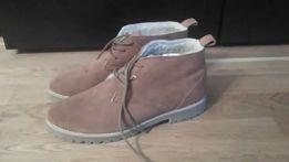 Zamszowe buty zimowe