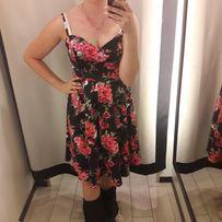 Sprzedam sukienkę rozmiar M kwiaty wesele poprawny