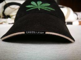 Czapka FALCON zielony liść z daszkiem