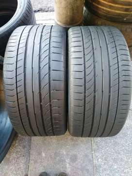 A set of tyres sizes 245/40/18 and 255/35/18 run flat now available