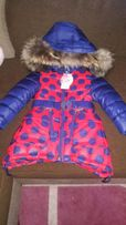 Зимнее пальто для девочки с натуральным воротником