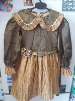 Платье-новое на девочку 2-5 лет праздничное для выступлений в садике