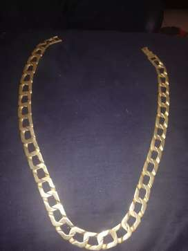 Men's Brass gold neck chain