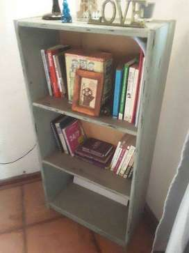 French style Distressed wooden Bookshelf