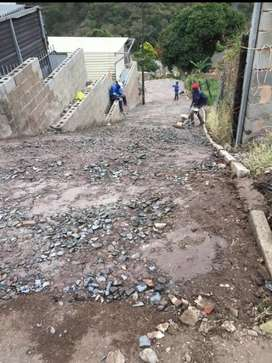 Asphalting and landscaping
