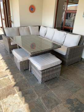 Patio tables and couches