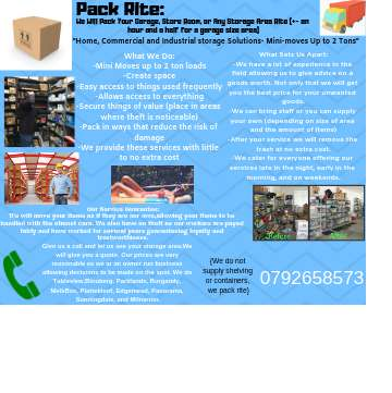 Pack-Rite (correct packing and removals) 0