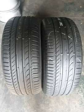 245/50/19 runflats.  Two continental tyres available for sale
