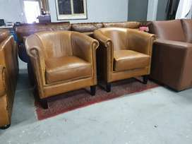 Brand new Genuine Leather Tub chairs
