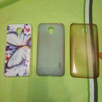 Чехол накладка бампер для meizu m2 mini. Пластмасмовый, силиконовый