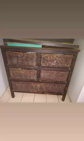 5 piece brown drawer set for sale!