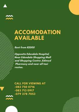 Rooms to rent near Edendale hospital