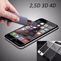 Защитное стекло 2,5D 4D на для iphone айфон 4/4s 5/5s 6/6s + 7/7+ 8 X