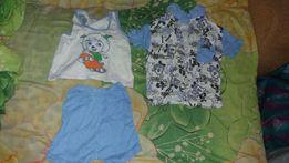 Продам летний костюм тройку для новорожденного мальчика