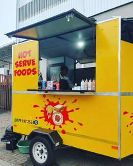A pre-loved Food Truck with Solar Power is for sale. 3m x 2.8m.