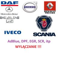 AdBlue DPF EGR scr IVECO SCANIA DAF MAN Renault Volvo Mercedes