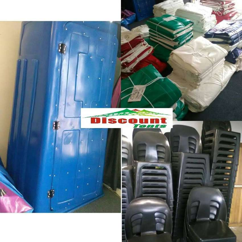 TENTS, CHAIRS, TOILETS FOR SALE 0