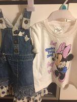 Bluzeczka sukienka zestaw Disney myszka mini na rozmiar 86miki