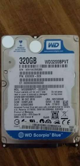 "WD 320GB 2.5"" hard drive"