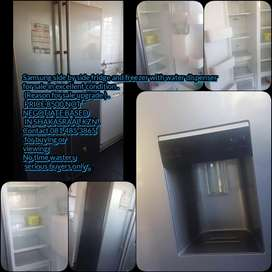 Samsung side by side fridge and freezer with water dispenser