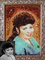 Портреты из янтаря,з бурштину, портрет на заказ ,подарок,картины,иконы