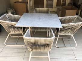 EVER GAINING furniture & Decorations patio set with marble countertop