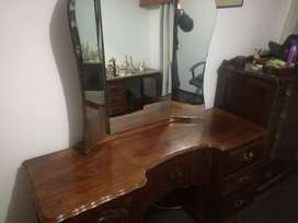 Solid Imbuia dressing table (varnished)