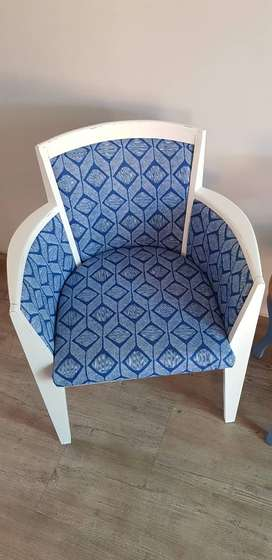 Two Blue & White Chairs for Sale