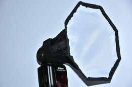 Софтбокс Октагон 20см, для накамерной вспышки, рассеиватель Октабокс