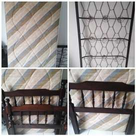 Single bed and matress for sale