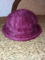 Женская ангоровая шляпка шапка