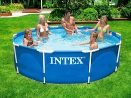 Каркасный круглый бассейн басейн METAL FRAME POOL Intex 305х76 см