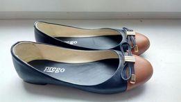 Балетки Prego кожаные
