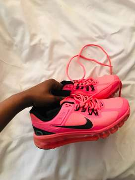 Pink Nike sneakers.Size 5