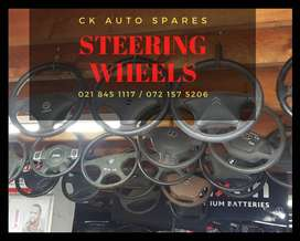 Steering wheels for sale for most vehicles make and models.