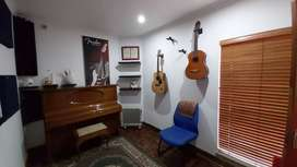 Music studio suitable for music lessons in person and online