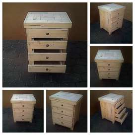 Chest of drawers Farmhouse series 0700 with 4 drawers - Raw