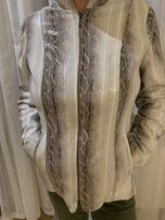 Куртка кожа имитация питон змея с капюшоном