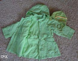 Płaszczyk płaszcz kurtka na polarku 98 cm 3 l + czapka gratis