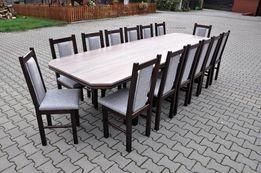 stol 244/314x105+ 14 krzesel laminat sonoma ciemna + ciemny orzech hit
