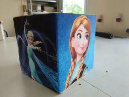Kostka Pufa Fotel dla dzieci Elsa Frozen Masza